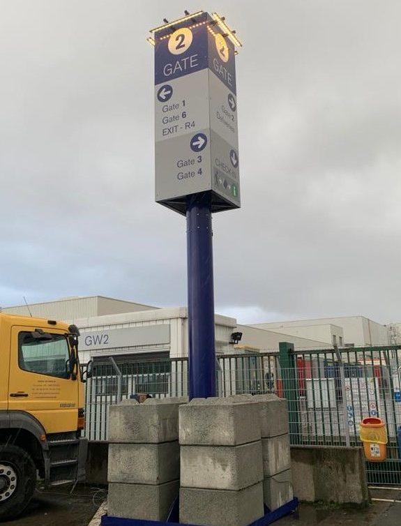 Verkeersplan Volvo pyloon
