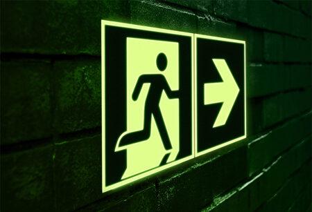 Fotoluminescente pictogrammen