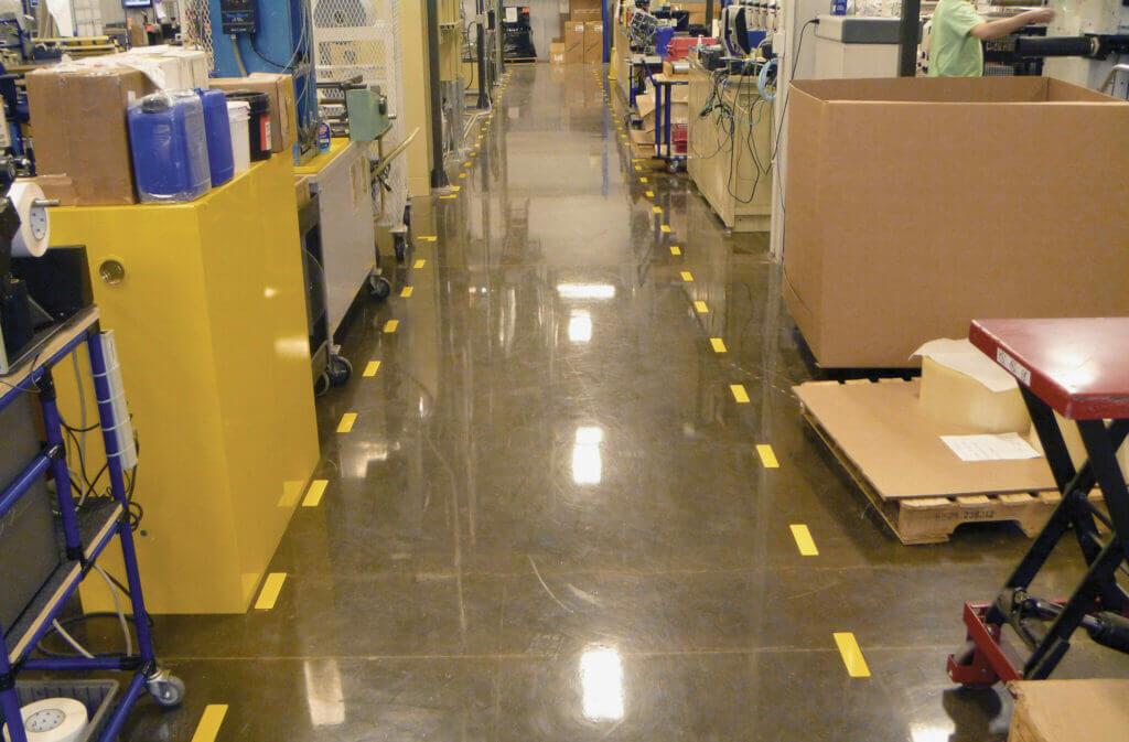 Vloermarkering voor een efficiënte en veilige werkplaats
