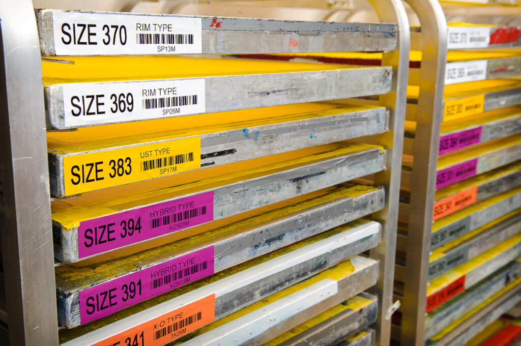 labels materiaal magazijn